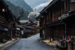 Post town of Tsumago juku, Kiso valley stock images