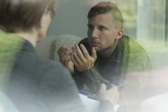 Post traumatic stress disorder. Psychological therapy of post traumatic stress disorder Royalty Free Stock Photos
