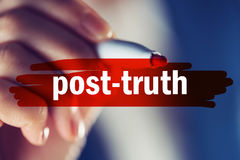 Post-truth concept. Also known as post-factual politics royalty free stock images