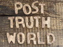 Post Truth concept Royalty Free Stock Image