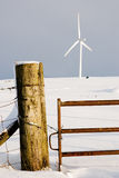 Post and turbine Stock Image