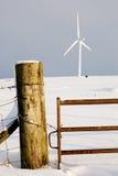 Post and turbine Stock Photo