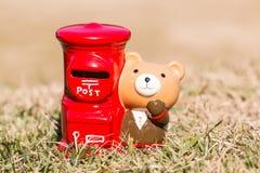 Post type piggy bank japanese desing Royalty Free Stock Images