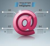 Post- und E-Mail-Ikone Abstraktes infograpfic Stockfotografie