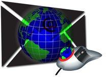 Post und mouse3 lizenzfreie abbildung