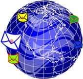 Post und Welt globe4 Lizenzfreies Stockfoto