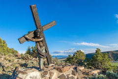Post van het Dwarsoriëntatiepunt Colorado stock fotografie