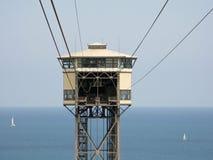Post van het Tramspoor van Vell van de haven de Lucht Stock Afbeeldingen