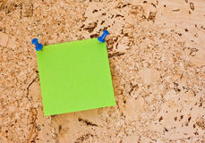 Post-it verde Fotografia de Stock