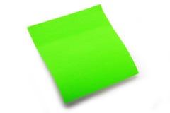 Post-it verde em branco Fotografia de Stock Royalty Free