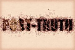 Post-verità o concetto post-effettivo Fotografie Stock