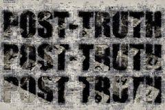Post-verità o concetto post-effettivo Fotografie Stock Libere da Diritti