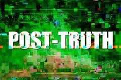 Post-verità o concetto post-effettivo Immagine Stock