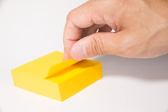 Post-it. Is a very useful stationery Royalty Free Stock Images