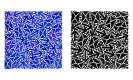 Post Vierkante de Vormpictogrammen van de Wegencollage stock illustratie