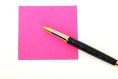 Post-it voor commentaren Stock Fotografie
