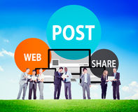 Post Web Share Announce Reminder List Remember Concept Stock Photography