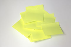 Post-it. With white background Stock Photography