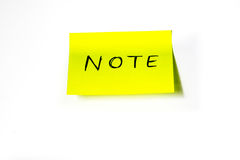 Post-it. With white background Royalty Free Stock Photography