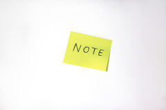 Post-it. With white background Royalty Free Stock Photo