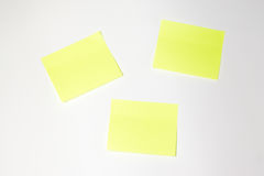 Post-it. With white background Stock Photos