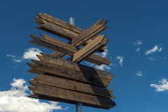 Post wooden signposts Royalty Free Stock Photo