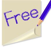 Post it with the word Free Stock Image