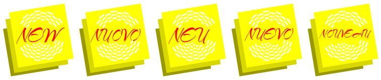 Post it with the word New Stock Photography