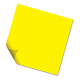 Post it yellow drop shadow Royalty Free Stock Photo