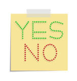 Post yes and no Stock Images