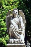 Postać anioł, cmentarz Fotografia Royalty Free