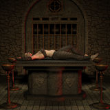 postać Halloween myśliwego wampir Fotografia Stock