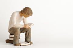 postać ii mężczyzna czytanie Zdjęcie Stock