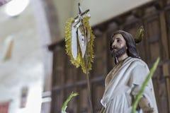 Postać Jezus w kościół zdjęcie royalty free
