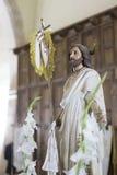 Postać Jezus w kościół Obrazy Stock