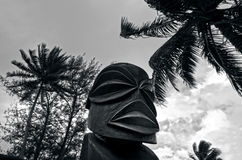 Postać Kucbarskie wyspy męskie w Rarotonga Kucbarskich wyspach. Zdjęcia Royalty Free