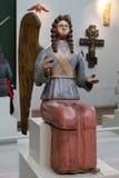 Postać posadzony anioł od kolekci Perm drewniany Zdjęcia Royalty Free