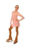 postać szczęśliwa łyżwiarka zdjęcie royalty free