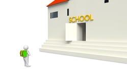 Postać z budynkiem ilustracja wektor