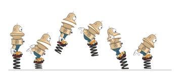 Postać Z Kreskówki Śliczny robot dla gry komputerowej Ustalonej ilustraci storyboard ilustracja wektor