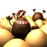 postać z kreskówki Easter jajka ręki obwódki falowanie Fotografia Royalty Free