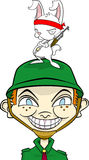 postać z kreskówki przyjaciela faceta zajączku Zdjęcie Stock