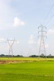 Posta ad alta tensione di potenza di elettricità Fotografia Stock