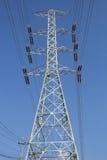 Posta ad alta tensione elettrica di potere Fotografia Stock