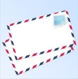 Posta aerea della lettera Fotografia Stock