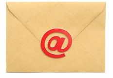 Posta con il simbolo del email Immagine Stock