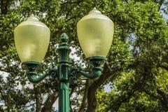 Posta d'annata della lampada Fotografia Stock