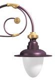 Posta decorativa della lampada Fotografie Stock