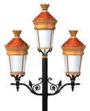 Posta decorativa della lampada Immagini Stock Libere da Diritti