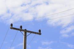 Posta del calcestruzzo di elettricità Fotografia Stock